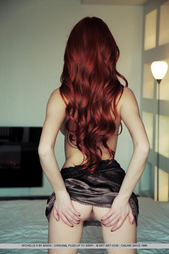【外人】お人形顔の赤毛美女ミシェル(Michelle H)のおまんこM字開脚ポルノ画像 81