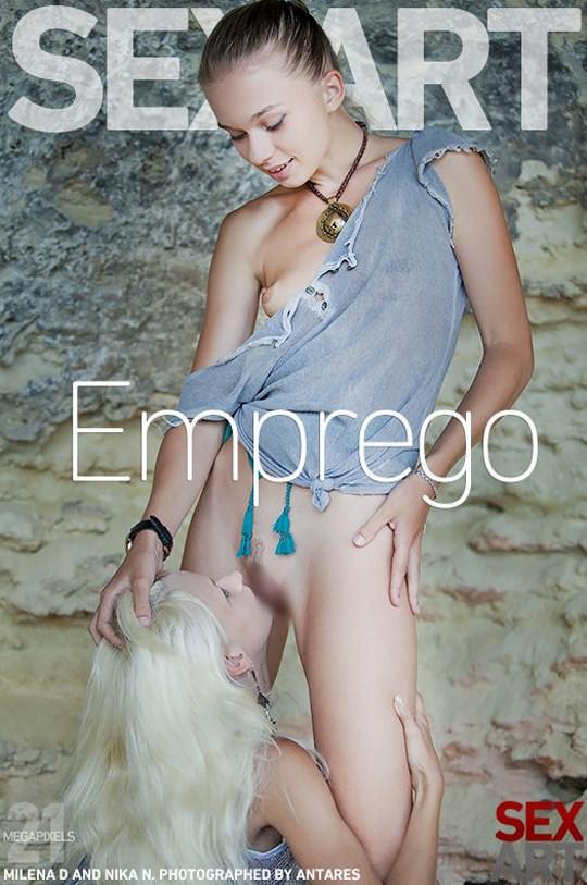 【外人】ウクライナのドスケベ美人姉妹ミレーナ(Milena D)とニカ(Nika N)が洞窟でレズエッチするポルノ画像 180