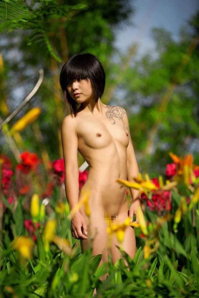 アジアンビューティーな黒髪お姉さんたちのヌードポルノ画像 2028