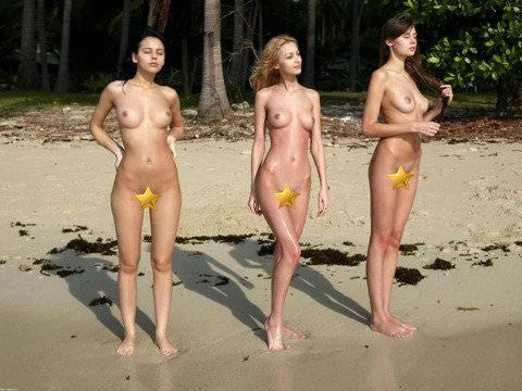 ヌーディストビーチには可愛い素人巨乳ちゃんが多すぎるポルノ画像 2125