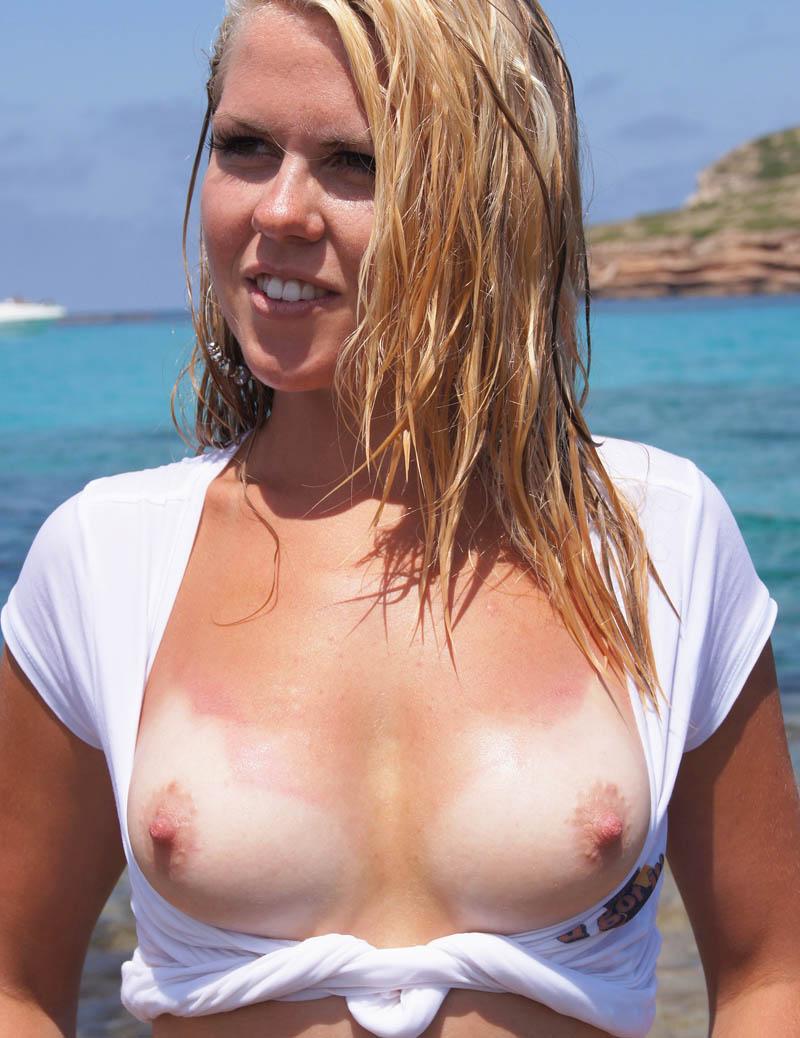 ヌーディストビーチではとりあえず乳首出しとけ的な振る舞いをする海外の巨乳女wwwww 2520