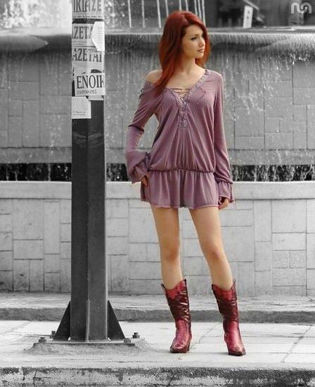 綺麗な赤毛色したセクシーな海外美人wwwwwww 1617