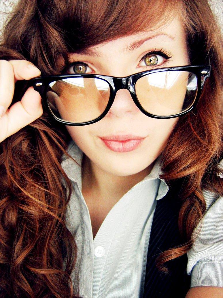 メガネっ娘女子が好きなのは万国共通な海外美人www 0478