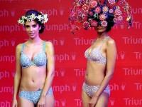 【外人】インド・ムンバイで開催されたトリンプ(Triumph)のファッションショーの下着美女ポルノ画像