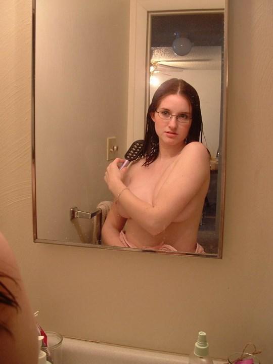 むちむちボインんちゃんがお風呂で自撮りしちゃうw乳輪ピンクでまだまだ遊んでないのかな???? 10 43