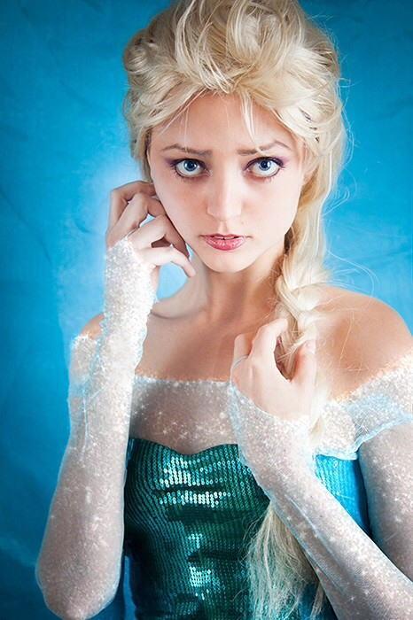 【アナ雪コス】アナと雪の女王 エルサのコスプレ姿がエロすぎる外国人ポルノエロ画像www 10 110