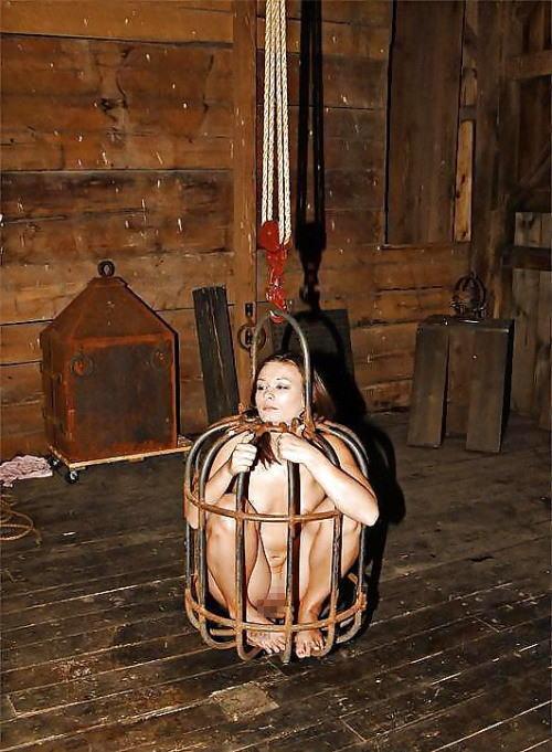 【調教奴隷外人エロ画像】『鳥かごにいれちゃうぞwww』まじでやば杉wやりたい放題し放題wwwwwwww 15 35