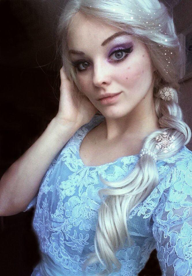 【アナ雪コス】アナと雪の女王 エルサのコスプレ姿がエロすぎる外国人ポルノエロ画像www 27 103