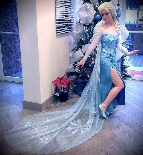 【アナ雪コス】アナと雪の女王 エルサのコスプレ姿がエロすぎる外国人ポルノエロ画像www 3 110