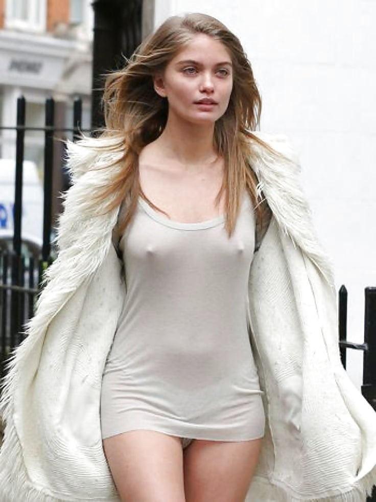 外人エロ画像w乳首立ってるやんwノーブラで街を歩く素人美女外人ポルノ写真集wwwwwwww 2 72