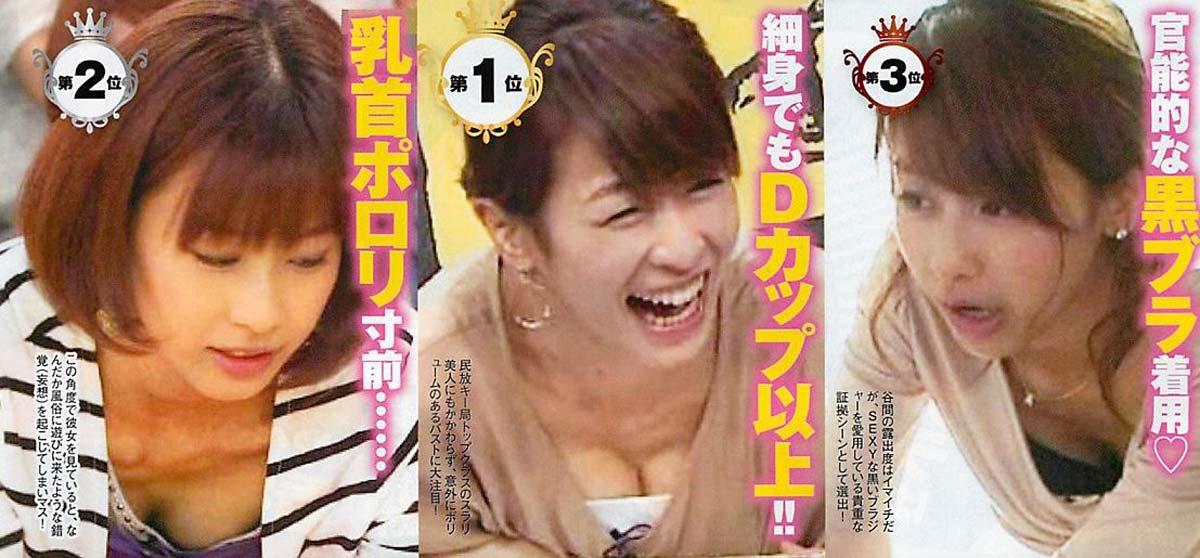 速報---❖加藤綾子アナの超お宝画像発見!!横乳谷間が見えるぞ!!!!!!! 13 375