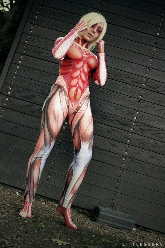 ❖閲覧注意ーーー❖キモエロ画像!!!進撃の巨人女型の巨人アニの変身したエロ画像wwwwwwwwww 18 132