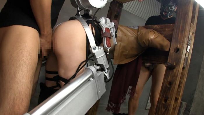 ※アナルセックス調教!!進撃の巨人のミカサアッカーマンコスプレ姿で二穴同時セックスのエロ画像wwwwwwwwww 19 120
